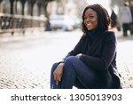 african american woman model in ...   Shutterstock . vector #1305013903