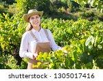 successful smiling female... | Shutterstock . vector #1305017416