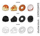 vector design of confectionery... | Shutterstock .eps vector #1305018493