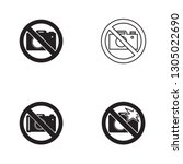 no camera icon in four... | Shutterstock .eps vector #1305022690