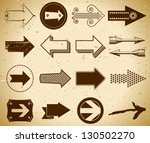 set of trendy vintage arrows on ... | Shutterstock .eps vector #130502270