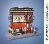 pizzeria. pizzeria building... | Shutterstock . vector #1305023293