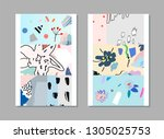 collection of creative... | Shutterstock .eps vector #1305025753