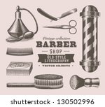 Vintage Barber Shop Objects