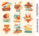 retro beach emblems | Shutterstock .eps vector #130503044