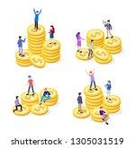 creative business team work...   Shutterstock .eps vector #1305031519