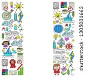 vector set of learning english...   Shutterstock .eps vector #1305031663