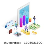 financial administration...   Shutterstock .eps vector #1305031900