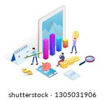 business data analysis...   Shutterstock .eps vector #1305031906