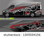 van graphic designs. abstract... | Shutterstock .eps vector #1305034156