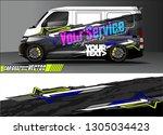 van graphic designs. abstract... | Shutterstock .eps vector #1305034423