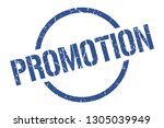 promotion blue round stamp | Shutterstock .eps vector #1305039949