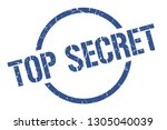 top secret blue round stamp | Shutterstock .eps vector #1305040039