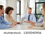 small group of business people...   Shutterstock . vector #1305040906