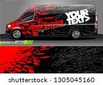 van livery design vector.... | Shutterstock .eps vector #1305045160