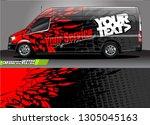 van livery design vector.... | Shutterstock .eps vector #1305045163