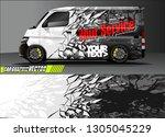 van livery design vector.... | Shutterstock .eps vector #1305045229