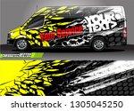 van livery design vector.... | Shutterstock .eps vector #1305045250