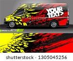 van livery design vector.... | Shutterstock .eps vector #1305045256