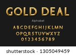 vector of modern gold deal... | Shutterstock .eps vector #1305049459