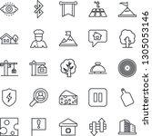 thin line icon set   reception... | Shutterstock .eps vector #1305053146
