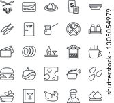 thin line icon set   coffee... | Shutterstock .eps vector #1305054979