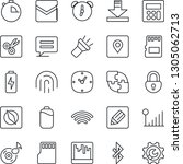 thin line icon set   message... | Shutterstock .eps vector #1305062713
