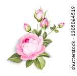 the blooming rose with couple... | Shutterstock .eps vector #1305064519