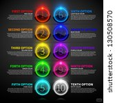 set of colorful glowing options. | Shutterstock .eps vector #130508570