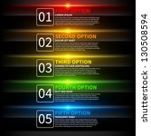5 colorful glowing options.... | Shutterstock .eps vector #130508594