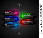 glossy timeline template with... | Shutterstock .eps vector #130508603