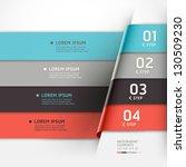 modern origami style options... | Shutterstock .eps vector #130509230