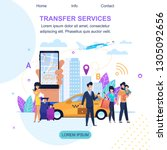 transfer services. auto... | Shutterstock .eps vector #1305092656