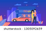 night club. young people have... | Shutterstock .eps vector #1305092659