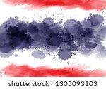 grunge thailand national flag... | Shutterstock .eps vector #1305093103