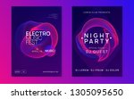 music flyer. dynamic gradient... | Shutterstock .eps vector #1305095650