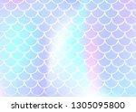 gradient mermaid background... | Shutterstock .eps vector #1305095800