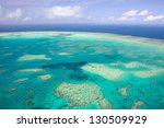 aerial view of a great barrier... | Shutterstock . vector #130509929