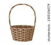 wicker basket vector... | Shutterstock .eps vector #1305106579
