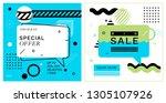 set of trendy abstract... | Shutterstock .eps vector #1305107926