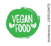 green grunge vegan food vector... | Shutterstock .eps vector #1305110473