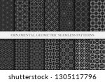 collection of ornamental... | Shutterstock .eps vector #1305117796