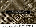 collection of art deco vector... | Shutterstock .eps vector #1305117799