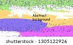 multicolored confetti dots on a ... | Shutterstock .eps vector #1305122926