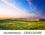 panorama of a colourful sunset... | Shutterstock . vector #1305126589