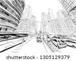 makati. manila. philippines... | Shutterstock .eps vector #1305129379
