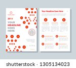business brochure layout.... | Shutterstock .eps vector #1305134023