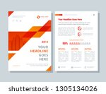 business brochure layout.... | Shutterstock .eps vector #1305134026