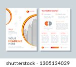 business brochure layout.... | Shutterstock .eps vector #1305134029
