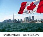 toronto  canada   canadian... | Shutterstock . vector #1305136699